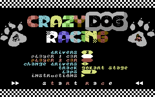 Retro C64 játék, Crazy Dog Racing