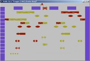 Frogger - debug színekkel